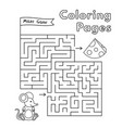 cartoon mouse maze game vector image