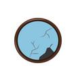 circular mirror icon image vector image