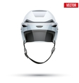 Classic white Ice Hockey Helmet with glass visor vector image vector image
