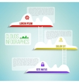 Clouds with the ladder simple clean infographics vector image