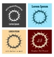 Crown of thorns logo set vector image vector image