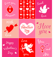 Decorative pink cards for Valentines day vector image vector image