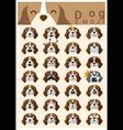 Dog emoji icons 2 vector image