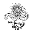 Every sunrise is unique vector image