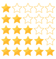 Five stars rating isolated on white background vector image vector image