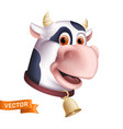 funny smiling cow character cartoon mascot head vector image