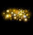 gold firework design on black background vector image vector image