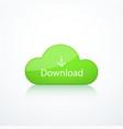green cloud icon vector image vector image