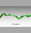 green ribbon vector image vector image
