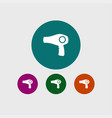hair dryer icon simple barbershop vector image