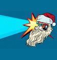 headlights car santa claus christmas character vector image vector image