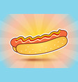 hot dog on abstract background vector image
