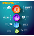 infographic template with four multicolored circle vector image vector image