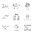 Innovative device icons set outline style vector image vector image