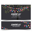 invitation card party celebration vector image vector image