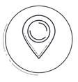 Isolated gps mark design vector image vector image