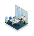 isometric recruitment people vector image vector image