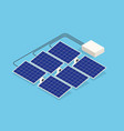 isometric solar panels new solar battery vector image