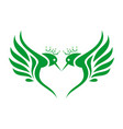 king hummingbirds logo letter m icon concept vector image
