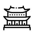korean building icon outline vector image vector image