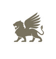 lion wing logo vector image vector image