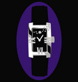 luxurious womens watch with small diamonds vector image