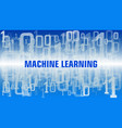 machine learning text binary code abstraction vector image