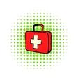 Medicine chest icon comics style vector image vector image