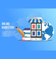 Online bookstore concept design template