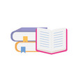 pile books literature knowledge education learning vector image
