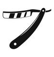 razor blade icon simple style vector image