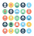Robots Robotics Colored Icons 3 vector image vector image