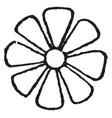 rosette design is a floral-shaped design vintage vector image vector image
