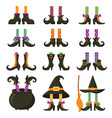 scary witch legs halloween witches leg stockings vector image vector image