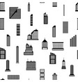 seamless buildings megapolis pattern vector image