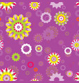 seamless repeating floral pattern vector image vector image