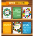 Set of Flyer Brochure Design Templates Leaves vector image vector image