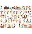 set of kids character vector image