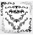 set tribal tattoo elements vector image vector image