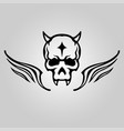 skull head tattoo logo icon design vector image vector image