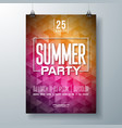 summer celebration party flyer design with vector image vector image