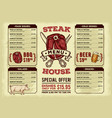 template for the restaurant menu vector image vector image