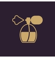 The perfume icon sprayer symbol Flat vector image vector image
