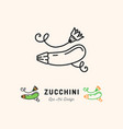 zucchini icon courgette symbol vegetables vector image vector image