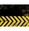 grungy hazard stripes vector image
