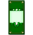 Greeting card green vector image