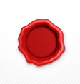 Wax seal red Shiny Red Sealing wax isolated vector image