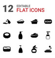 12 soap icons vector image vector image