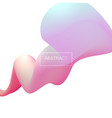 abstract 3d coloful shape vector image vector image