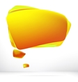 Abstract orange warm speech bubble EPS8 vector image vector image